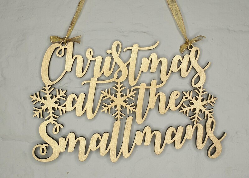 Personalised Christmas family signs