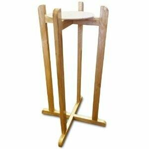 Support en bois de plancher pour distributeur en porcelaine