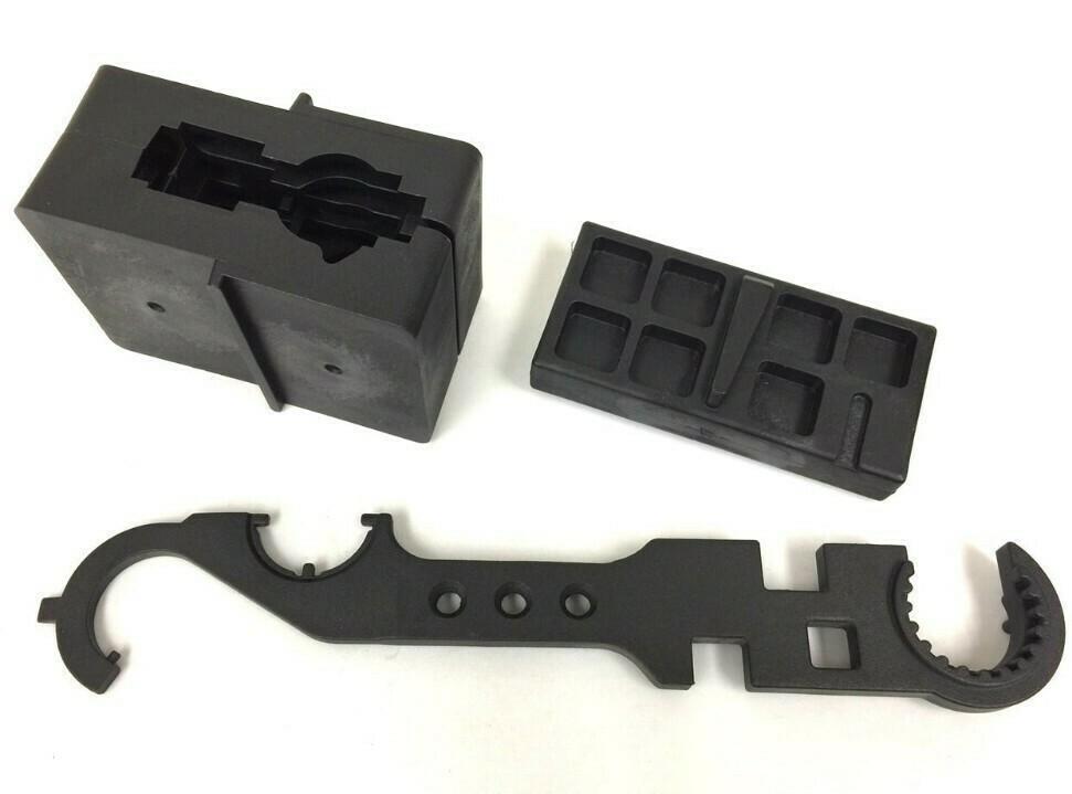 AR15 Armorer's Combo Wrench, Upper lower vise block