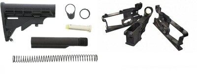 HYBRID 80 LIBERATOR AR15 80% lower and Jig with a 6 POSITION STOCK KIT.