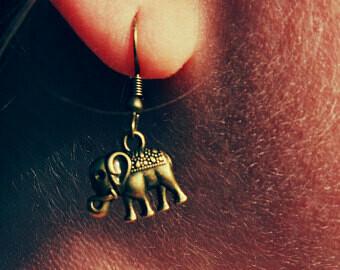 Bronze Elephant Earrrings