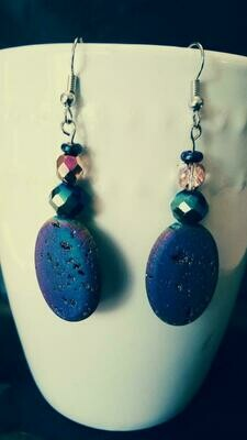 Prismatic Rock Drop Down Earrings *