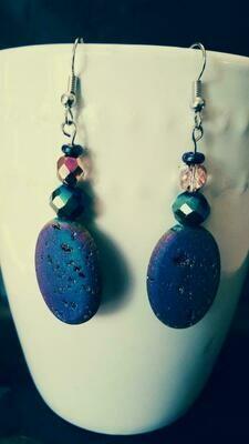 Prismatic Rock Drop Down Earrings *