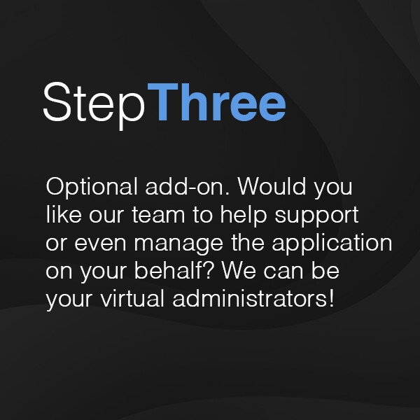 3: Optional administrator support (from £2,160 plus VAT)