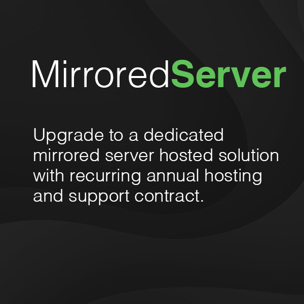 Dedicated mirrored server hosting and support