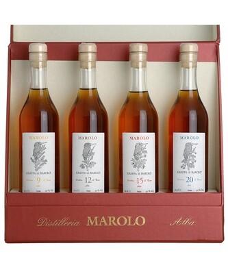 Geschenkset For Four mit je 1 Flasche 20 cl Marolo Grappa