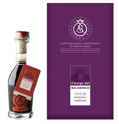 Aceto Balsamico Tradizionale di  Reggio Emilia DOP  etichetta arancio - invecchiato 12 anni  Il Borgo del Balsamico