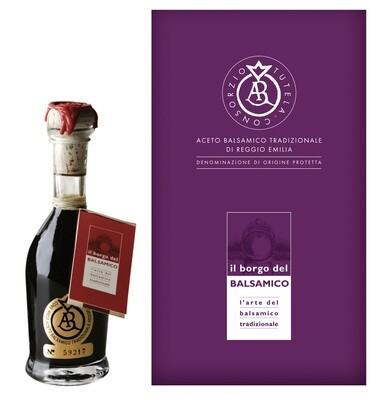 Aceto Balsamico Tradizionale di  Reggio Emilia DOP  etichetta oro - extravecchio 25 anni  Il Borgo del Balsamico