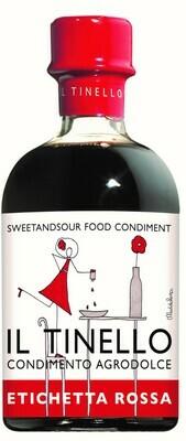 Condimento Agrodolce IL TINELLO  etichetta rossa 65° Brix  Il Borgo del Balsamico
