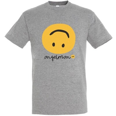Grey T Shirt smiley design