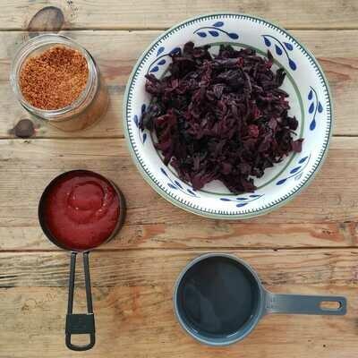 Receta: Jamaica enchilada