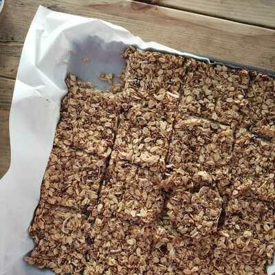 Receta: Barritas de granola sin hornear