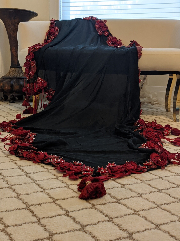 Bombay beauty black/red