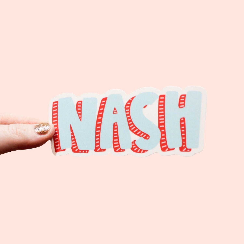 NASH BLOCK STICKER