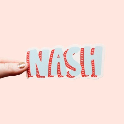 NASH BLOCK STICKER