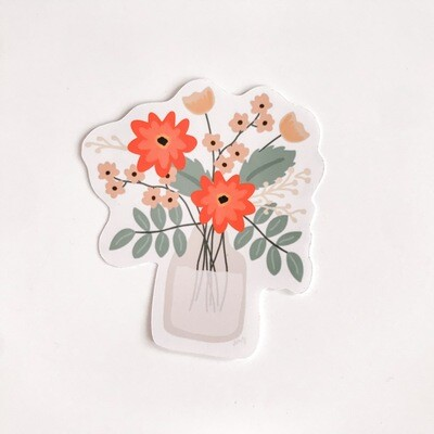 FLOWERS VASE STICKER
