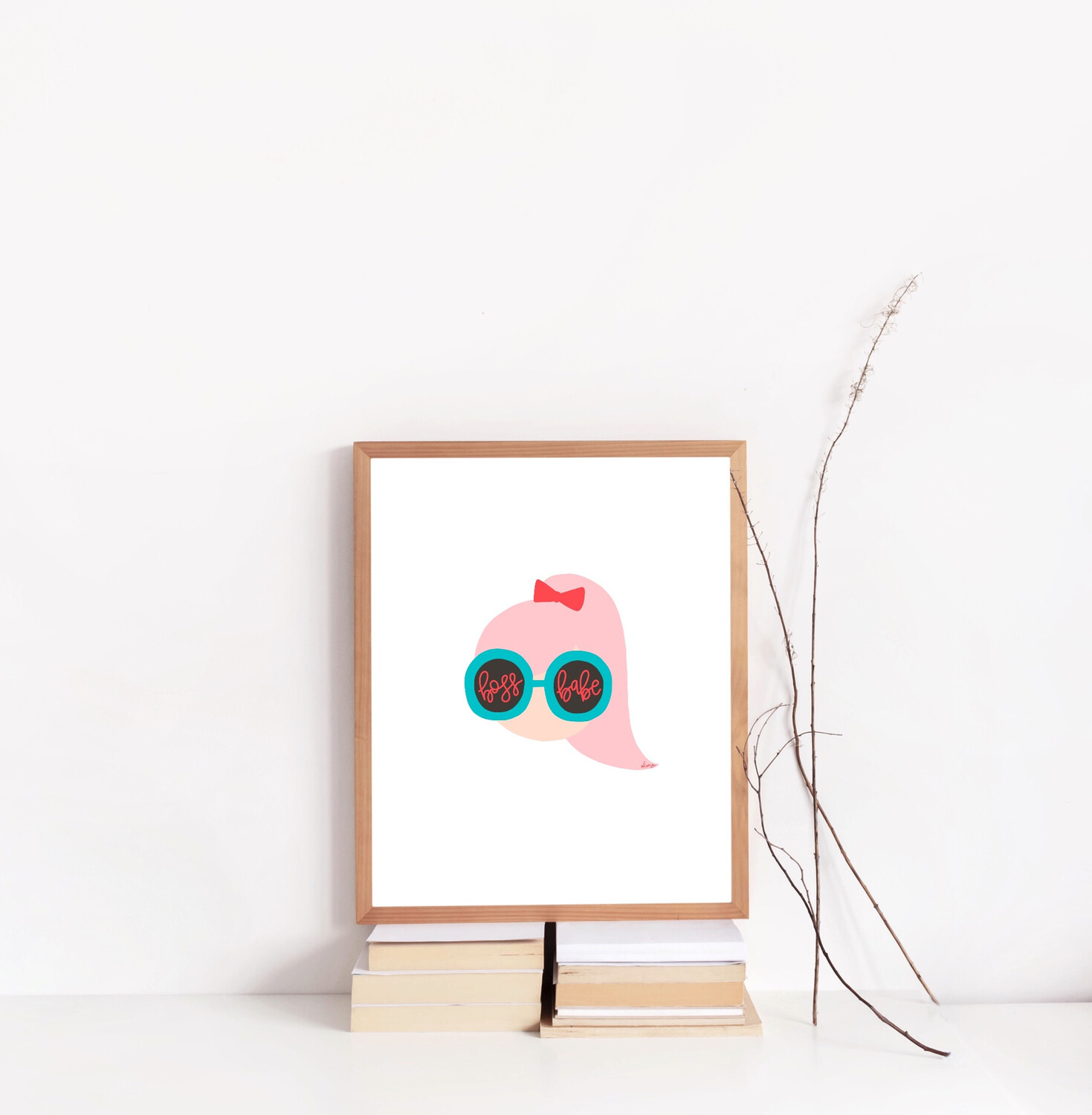 BOSS BABE SUNNIES 8X10 PRINT