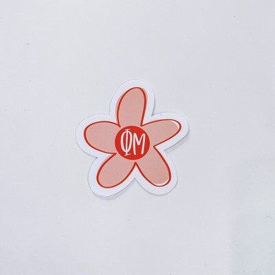 PHI MU FLOWER STICKER