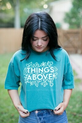 The Cameron Shirt - emerald green/green writing