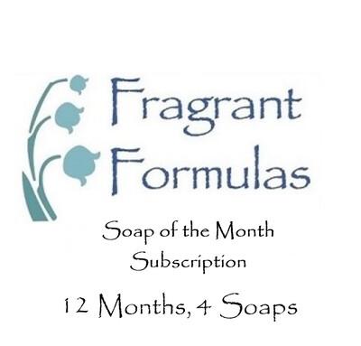 12 Months Subscription, 4 Soaps per Month