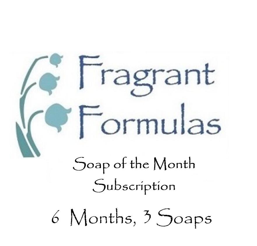 6 Months Subscription, 3 Soaps per Month