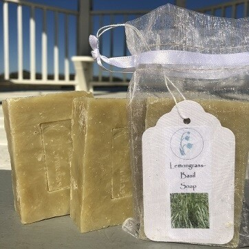 Lemongrass Basil Soap