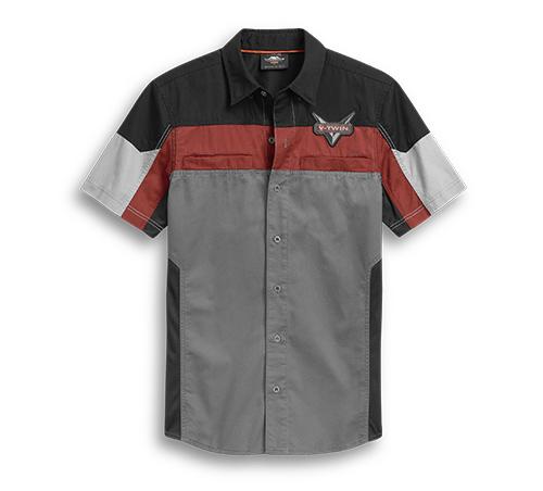 Harley-Davidson Men's Performance Mesh Panel Short Sleeve Shirt