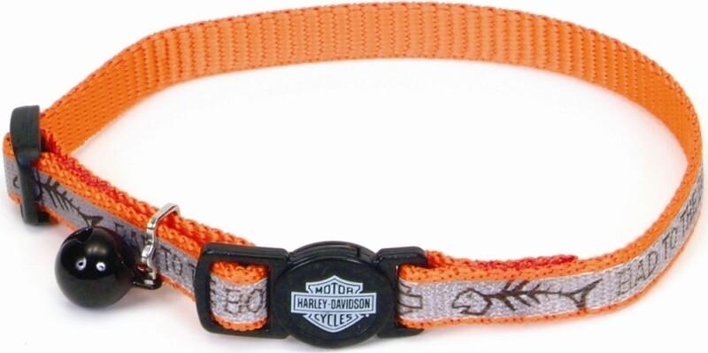 Harley-Davidson Reflective Orange Fish Cat Collar