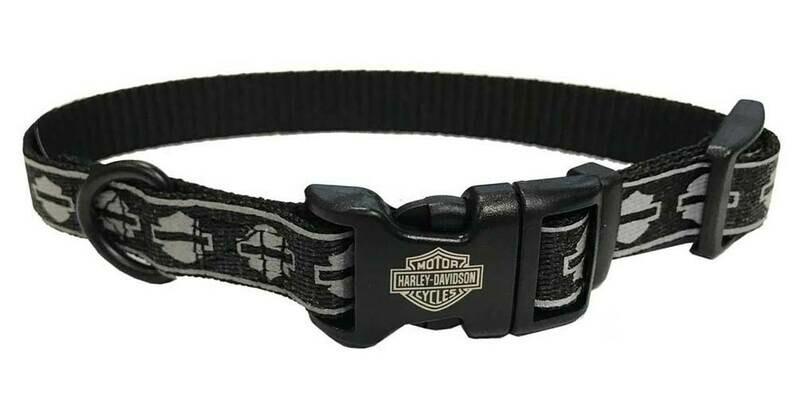 Harley-Davidson Reflective Bar & Shield Pet Collar