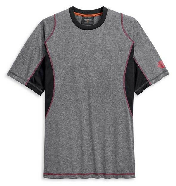 Harley-Davidson Men's Performance Wicking Colorblocked Short Sleeve T-Shirt