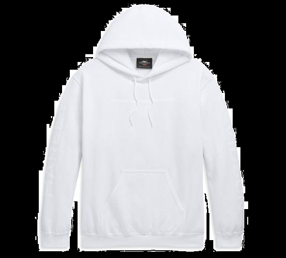 H-D  Hyphen Pullover Hooded Sweatshirt-white
