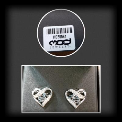 Infinity Thorn Heart Post Earrings