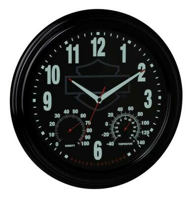 Harley-Davidson Outdoor Clock / Thermometer