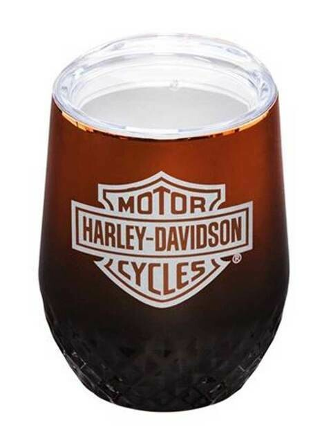Harley-Davidson Electroplate B&S Insulated Stemless Tumbler Cup w/ Lid - 12 oz.