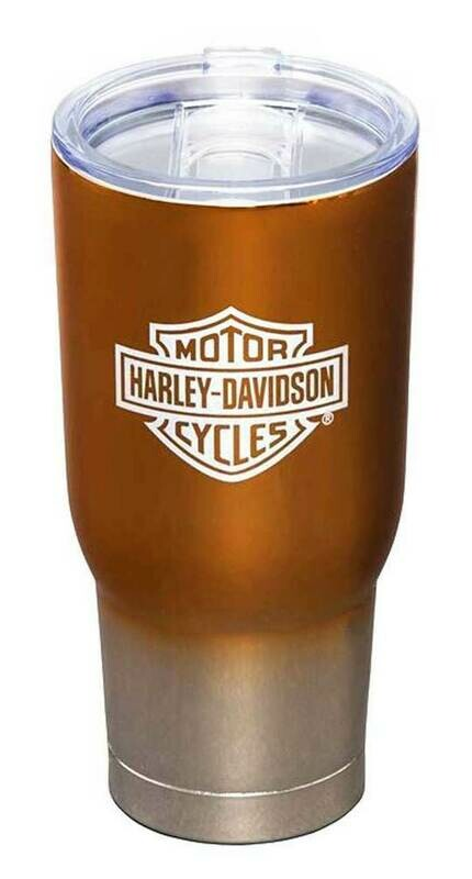 Harley-Davidson Electroplate B&S Logo Metallic Insulated Tumbler w/ Lid - 32 oz.