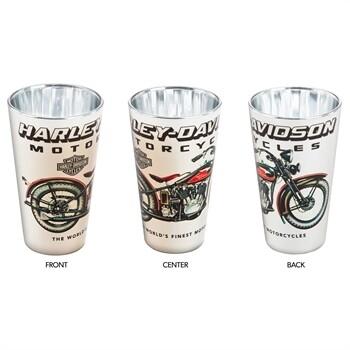 Harley-Davidson HD Vintage Motorcycle EP 16 oz. Silver Pint Glass