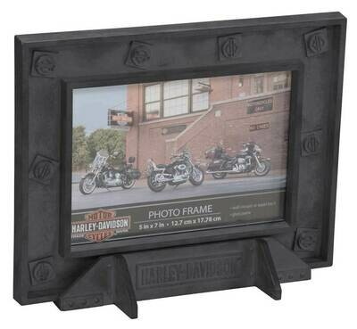Harley-Davidson Custom Industrial Pewter Picture Frame - 5 x 7 Photo