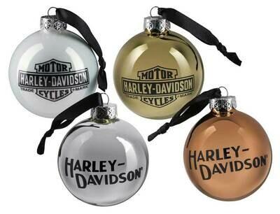 Harley-Davidson Trademark Logo Ball Ornament Set - Multi-Colored