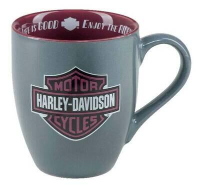 Harley-Davidson Enjoy The Ride B&S Ceramic Coffee Mug - Gray - 15 oz.