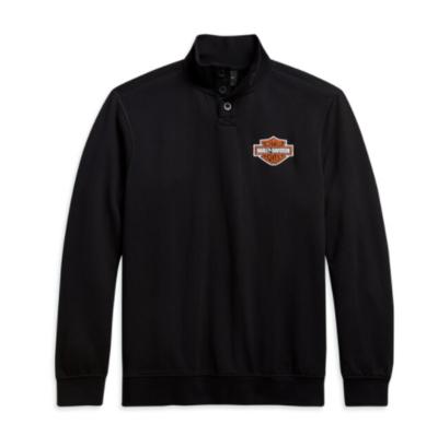 Men's Button Mockneck Sweater