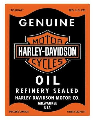 Harley-Davidson Genuine Motor Oil Can Rectangle Tin Sign 17 x 13 Inches