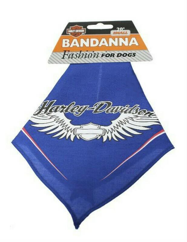 Harley-Davidson Blue Winged Pet Bandana