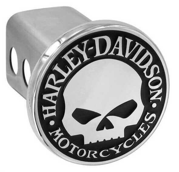 Harley-Davidson® Willie G. Skull Trailer Hitch Cover 2'' Stainless Steel