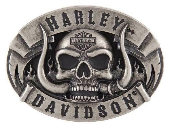 Harley-Davidson® Men's The Beast Belt Buckle, Antique Nickle Finish