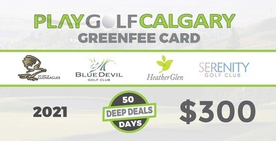 Play Golf Calgary Green Fee Card 95542