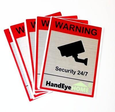 Camera surveillance warning stickers (5 pcs.)