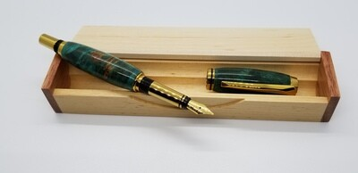 Fountain Pen with handcrafted wood box
