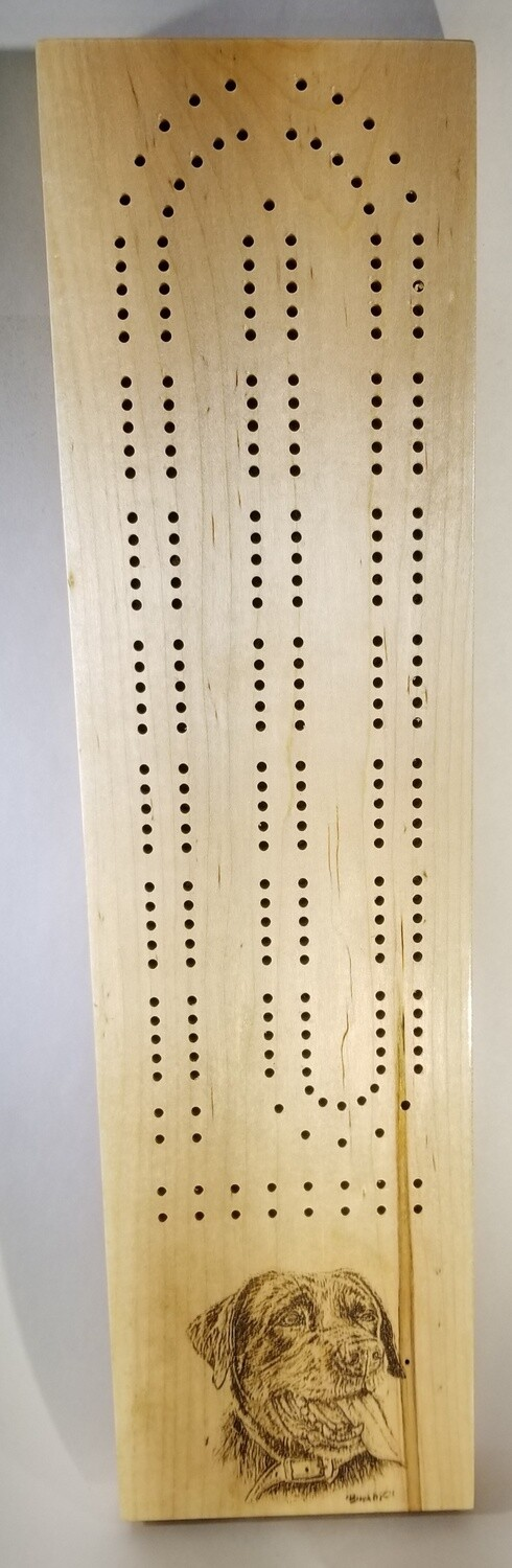 2 Track Cribbage Board w/lab engraving