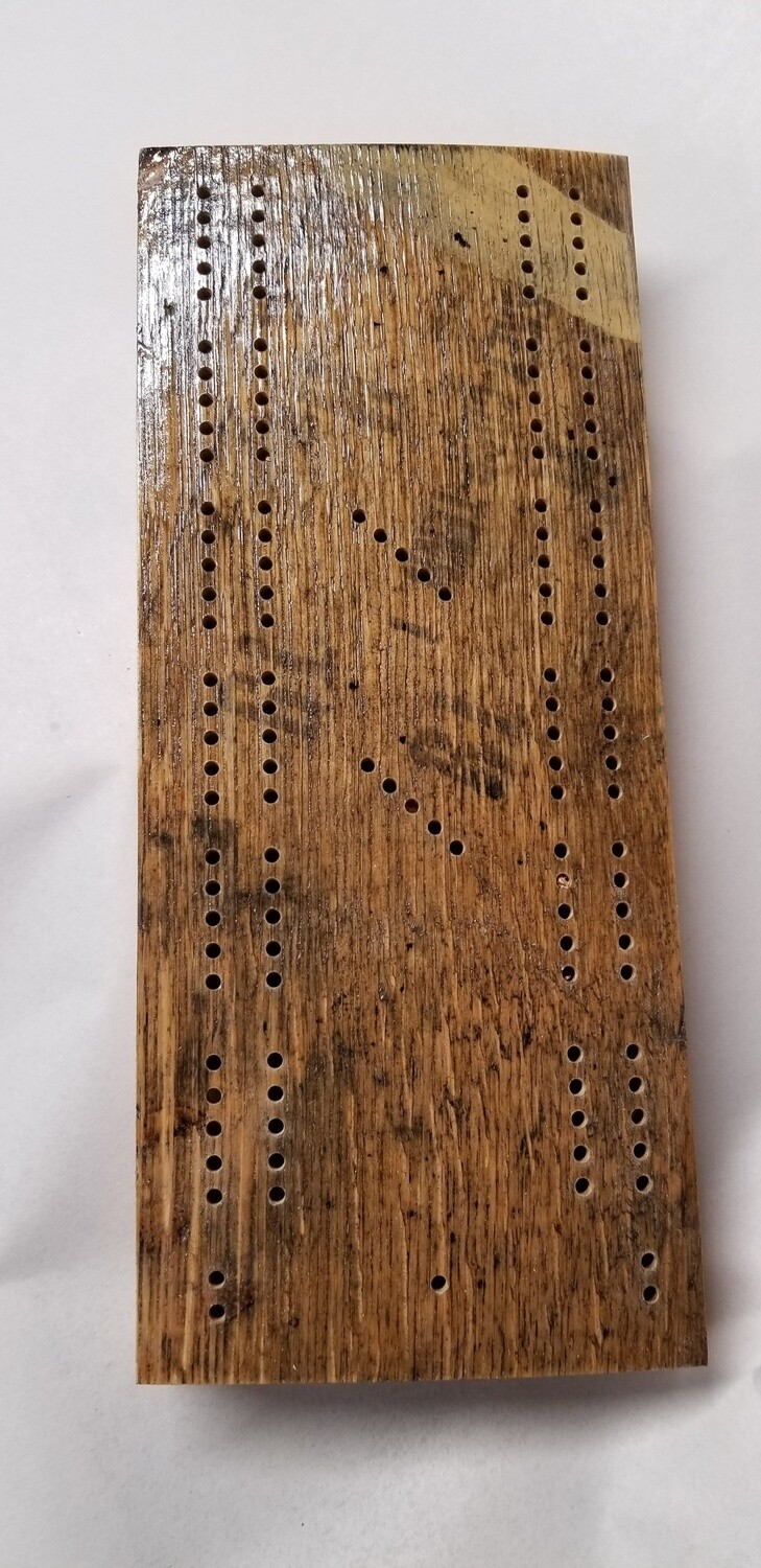 Travel Cribbage Board Whiskey Barrel