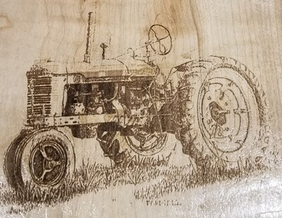 3 Track Cribbage Board w/tractor engraving